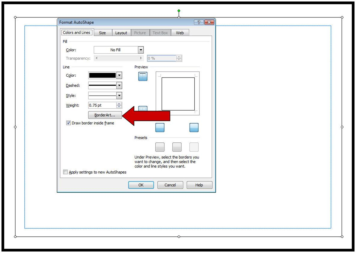 publisher how to add a border